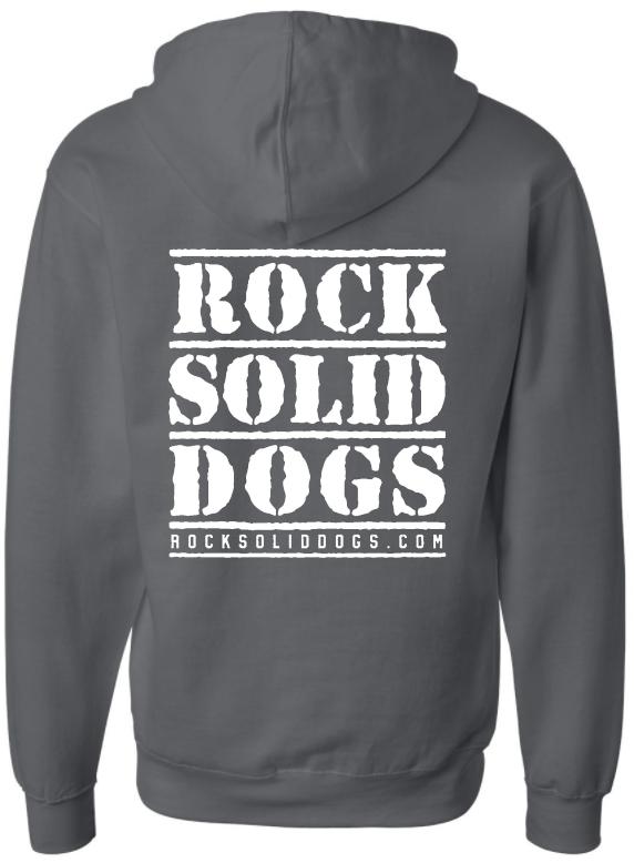 ROCK SOLID Zip-Front Hoodie